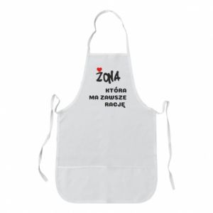 Apron A wife who is always right - PrintSalon
