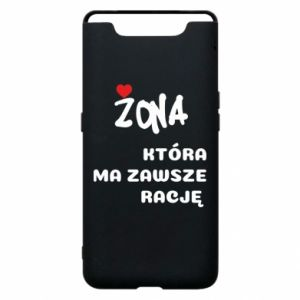 Phone case for Samsung A80 A wife who is always right - PrintSalon