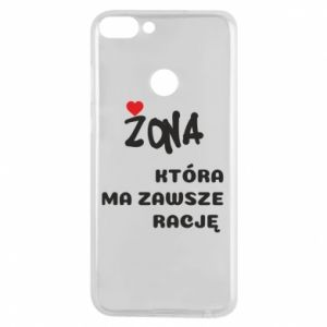 Phone case for Huawei P Smart A wife who is always right - PrintSalon