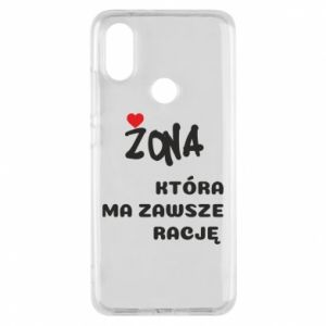 Phone case for Xiaomi Mi A2 A wife who is always right - PrintSalon