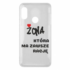 Phone case for Mi A2 Lite A wife who is always right - PrintSalon
