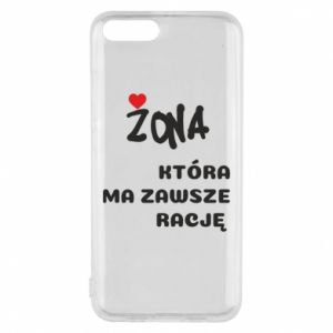 Phone case for Xiaomi Mi6 A wife who is always right - PrintSalon