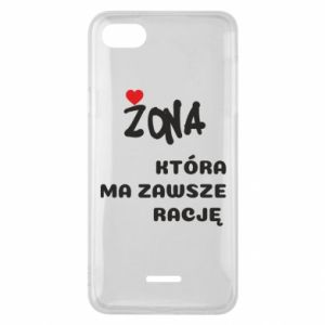 Phone case for Xiaomi Redmi 6A A wife who is always right - PrintSalon