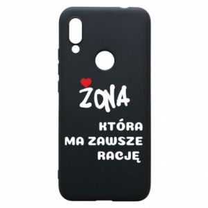 Phone case for Xiaomi Redmi 7 A wife who is always right - PrintSalon
