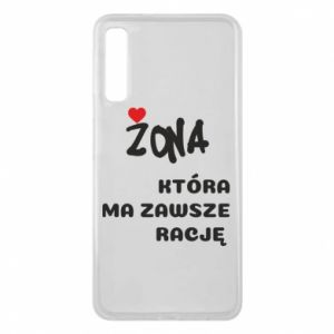 Phone case for Samsung A7 2018 A wife who is always right - PrintSalon
