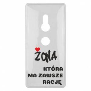 Etui na Sony Xperia XZ2 Żona, która ma zawsze rację