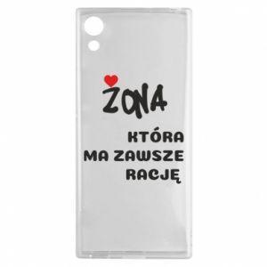 Etui na Sony Xperia XA1 Żona, która ma zawsze rację