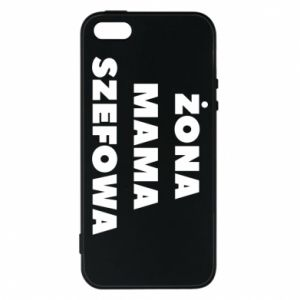 Etui na iPhone 5/5S/SE Żona Mama Szefowa napis