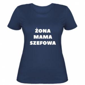 Women's t-shirt Wife Mom boss inscription