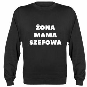 Bluza (raglan) Żona Mama Szefowa napis