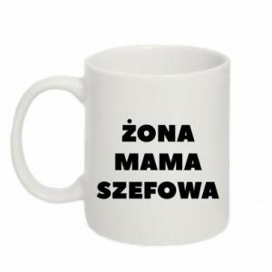 Kubek 330ml Żona Mama Szefowa napis