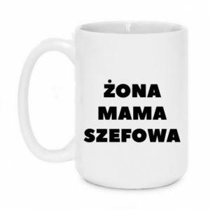 Kubek 450ml Żona Mama Szefowa napis