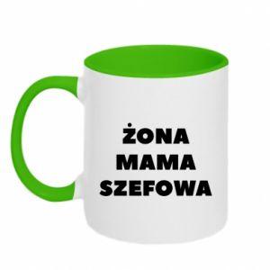 Kubek dwukolorowy Żona Mama Szefowa napis