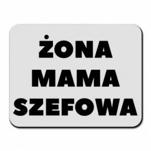 Podkładka pod mysz Żona Mama Szefowa napis