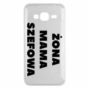 Etui na Samsung J3 2016 Żona Mama Szefowa napis