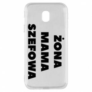 Etui na Samsung J3 2017 Żona Mama Szefowa napis