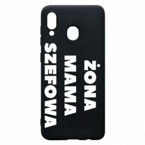 Etui na Samsung A30 Żona Mama Szefowa napis