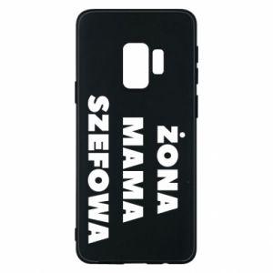 Etui na Samsung S9 Żona Mama Szefowa napis