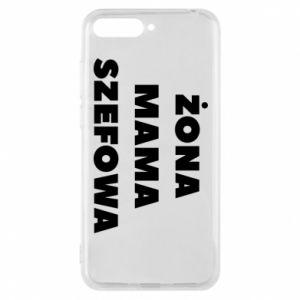 Etui na Huawei Y6 2018 Żona Mama Szefowa napis