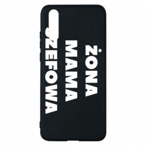 Etui na Huawei P20 Żona Mama Szefowa napis