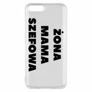 Etui na Xiaomi Mi6 Żona Mama Szefowa napis