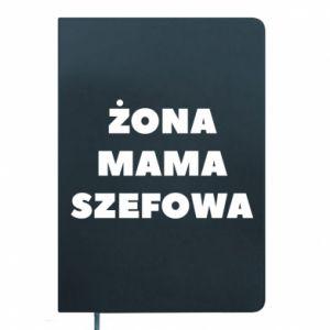 Notes Żona Mama Szefowa napis