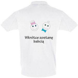 Koszulka Polo Zostanę babcią - PrintSalon