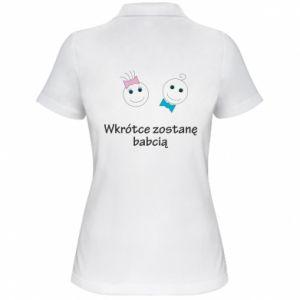 Damska koszulka polo Zostanę babcią - PrintSalon