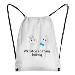 Plecak-worek Zostanę babcią
