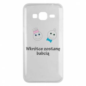 Phone case for Samsung J3 2016 Zostanę babcią