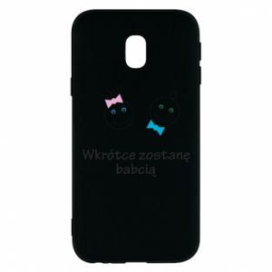 Phone case for Samsung J3 2017 Zostanę babcią