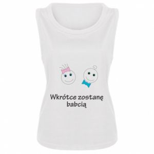 Damska koszulka Zostanę babcią - PrintSalon
