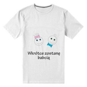 Męska premium koszulka Zostanę babcią - PrintSalon