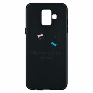 Phone case for Samsung A6 2018 Zostanę babcią