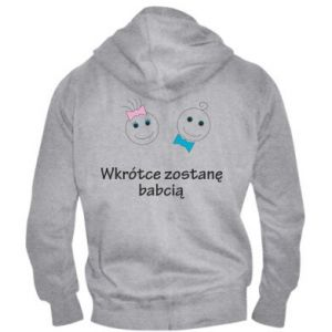 Men's zip up hoodie Zostanę babcią
