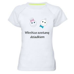 Koszulka sportowa damska Zostanę dziadkiem