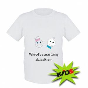 Dziecięcy T-shirt Zostanę dziadkiem