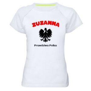 Damska koszulka sportowa Zuzanna jest prawdziwą Polką