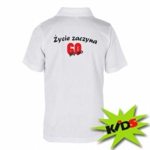 Dziecięca koszulka polo Życie zaczyna się po 60