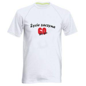 Męska koszulka sportowa Życie zaczyna się po 60