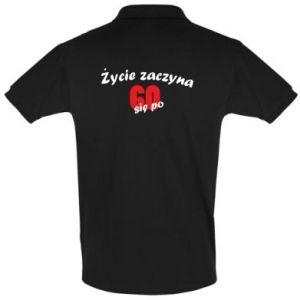 Koszulka Polo Życie zaczyna się po 60