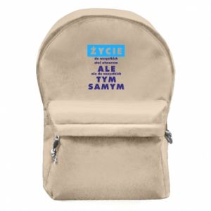 Backpack with front pocket Life