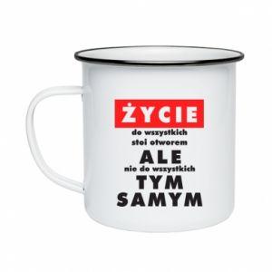 Enameled mug Life
