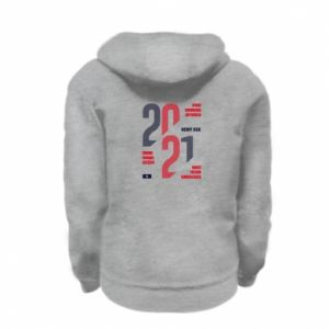 Kid's zipped hoodie % print% Wishes for the New Year