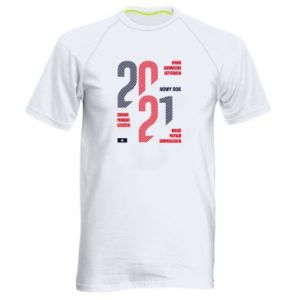 Men's sports t-shirt Wishes for the New Year