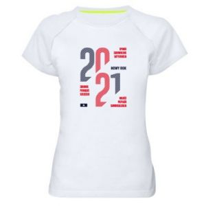 Women's sports t-shirt Wishes for the New Year