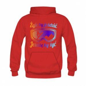 Kid's hoodie I live to ride