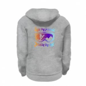 Kid's zipped hoodie % print% I live to ride