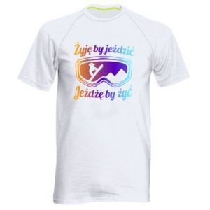 Men's sports t-shirt I live to ride