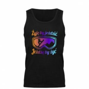 Men's t-shirt I live to ride